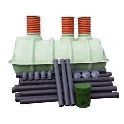 Oczyszczalnia 3 komory 2250 l 4-5osób  36 mb drenażu                            width=