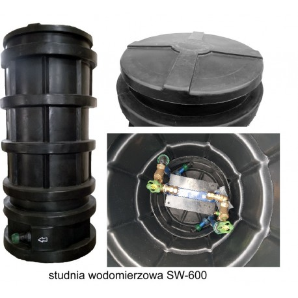 Studzienka Wodomierzowa SW-600 z wyposażeniem