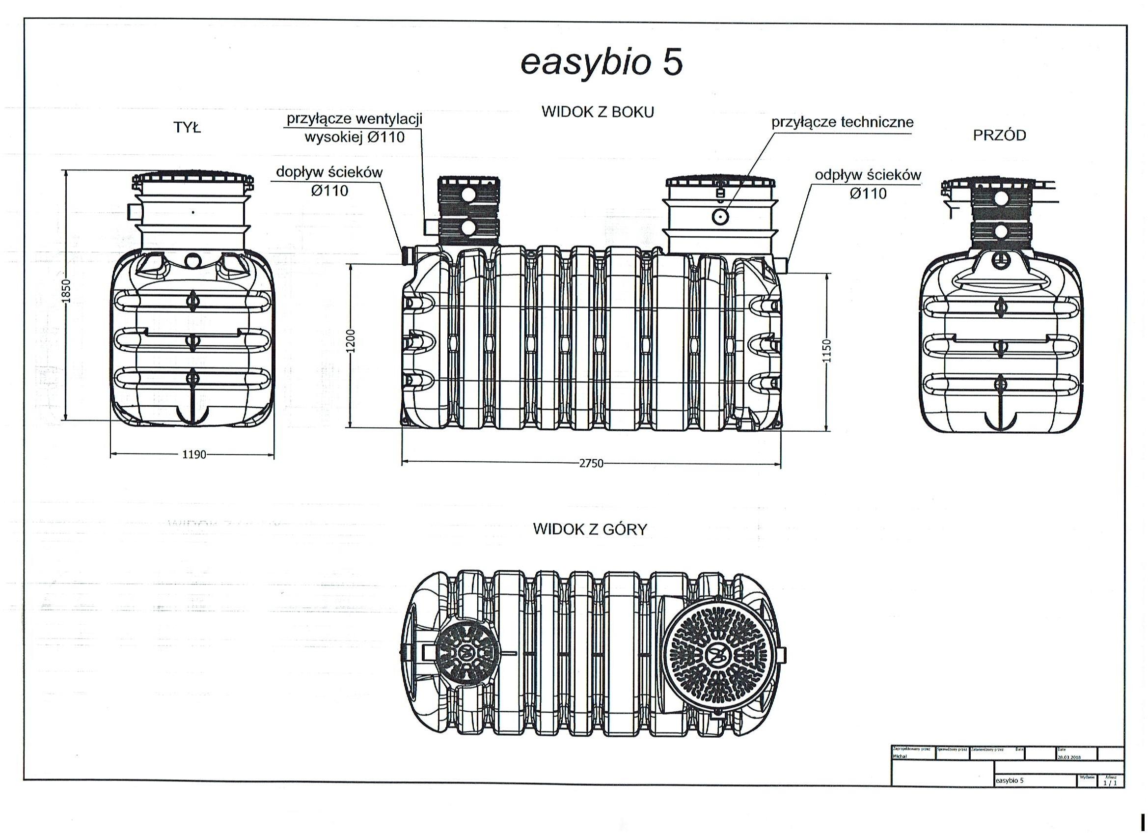 easybio4 wymiary